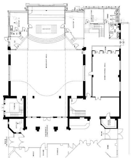 Floor Front Elevation Worship : Stanborough park church development plans
